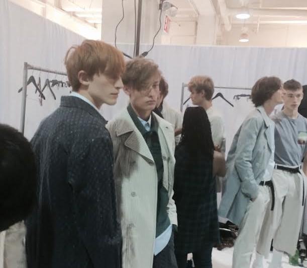 Aveda backstage styles hair for Richard Chai Spring 2016 Men's NY Fashion #Aveda #RichardChai #nyfw #mnyfw 1