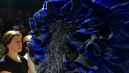 Comme De Garçon Spring 2016 Blue Witch Collection during Paris Fashion 2