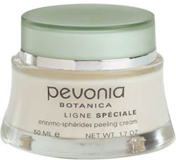 Pevonia Enzymo-Spherides Peeling Cream 1.7 oz - Repair summer skin with natural pineapple & papaya enzymes that gets rid of impurities, blackheads, dead cells, sebum, and toxins quickly for bright, smooth, skin. www.pevonia.com