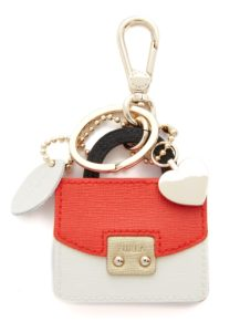 Furla Metropolis Keychain - Own a miniature Furla bag with this playful, leather saffiano leather Furla keychain. fashionsdigest.com